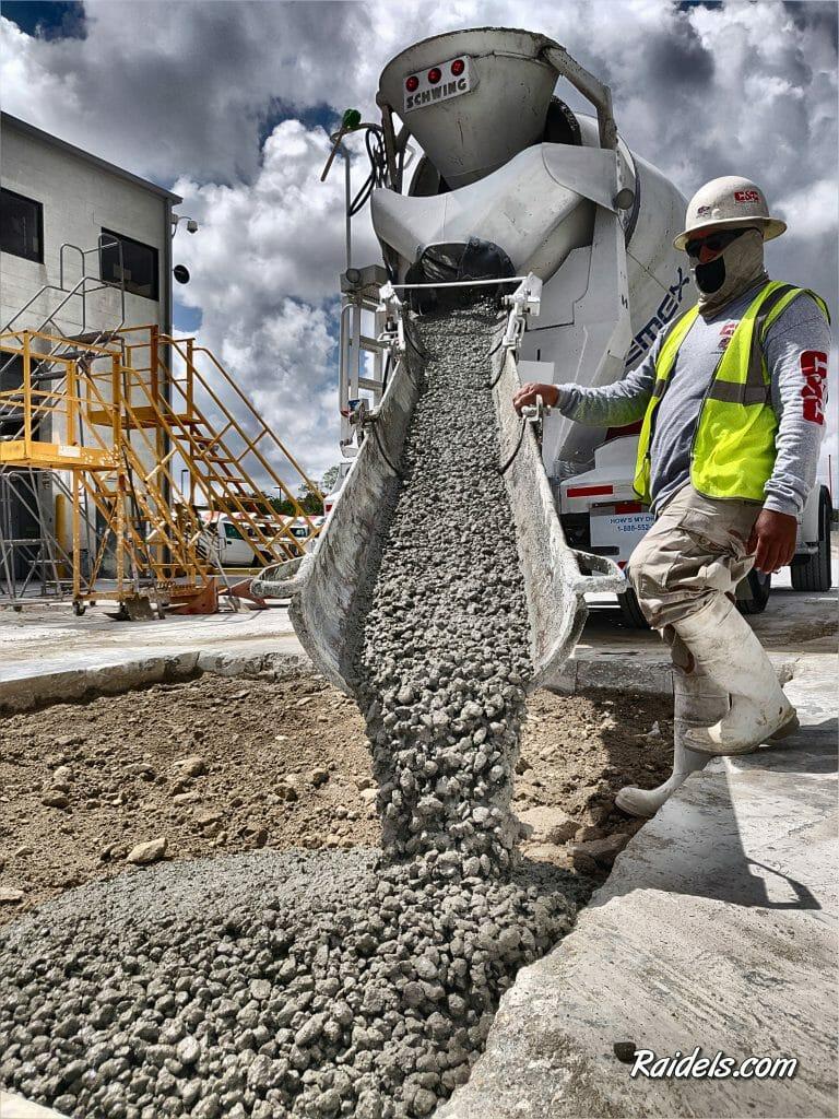 Concrete Pour-Back