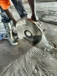 Hand Sawing a 4in thick Pan Deck Slab