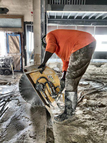 Hydraulic Concrete Cutting