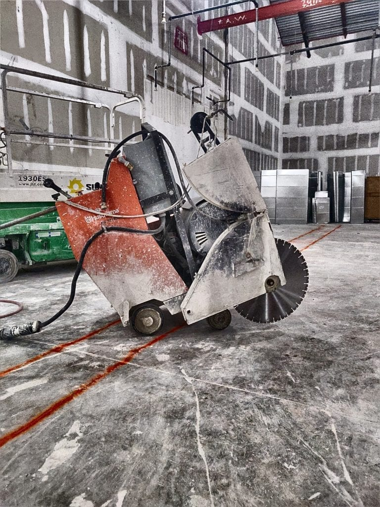 electric slab saw