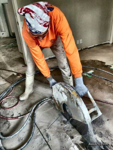 Cutting a slab