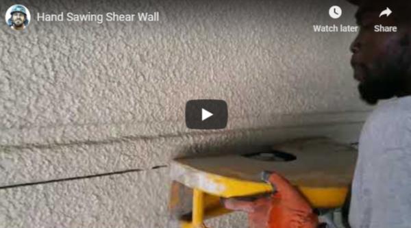 Concrete cutting Video