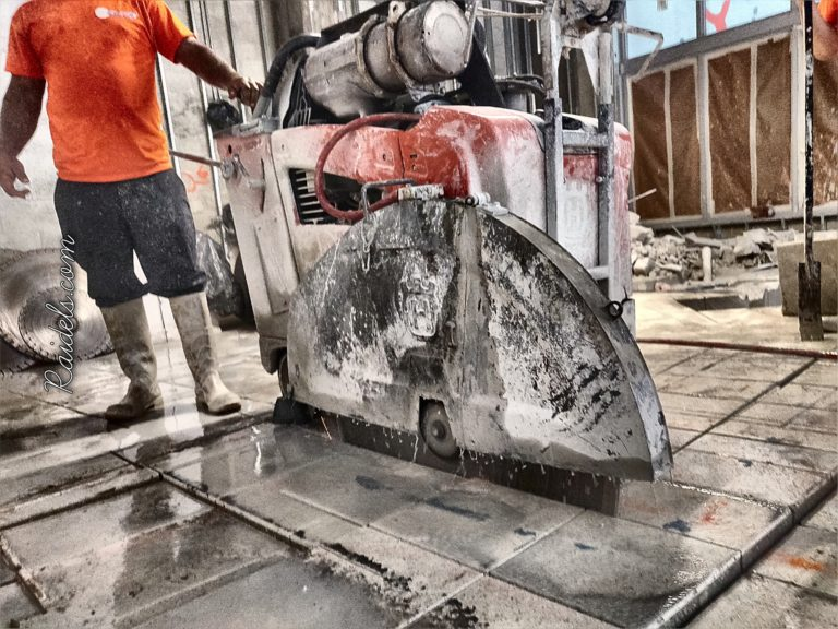 Cutting thick slab