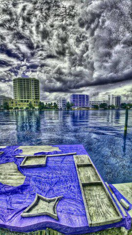 Job site in Miami beach.